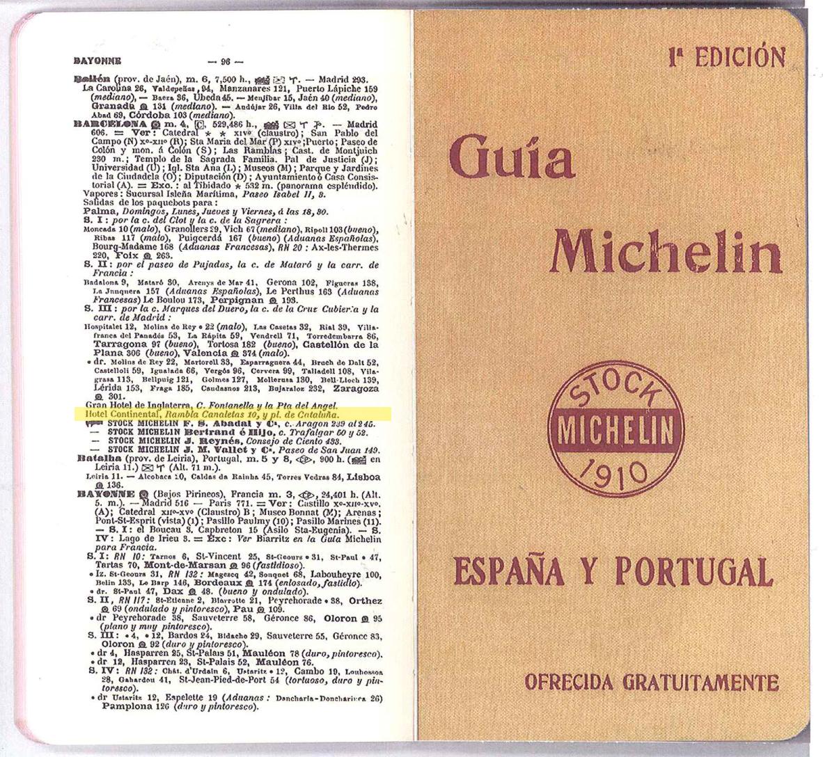primera edicion guia michelin