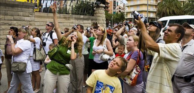 fotos turistas barcelona