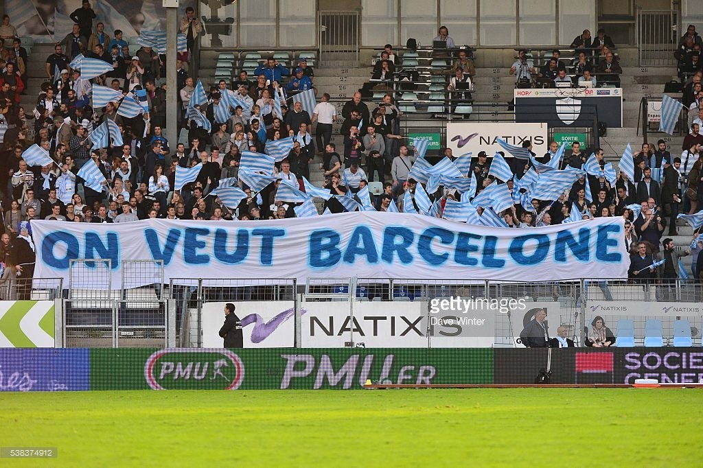 Racing 92 fans hoping their side makes it through to this year's final, being held