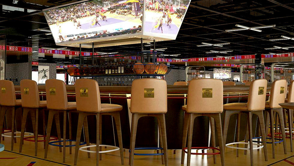 JumboTron in the NBA Café - Las Ramblas, 120