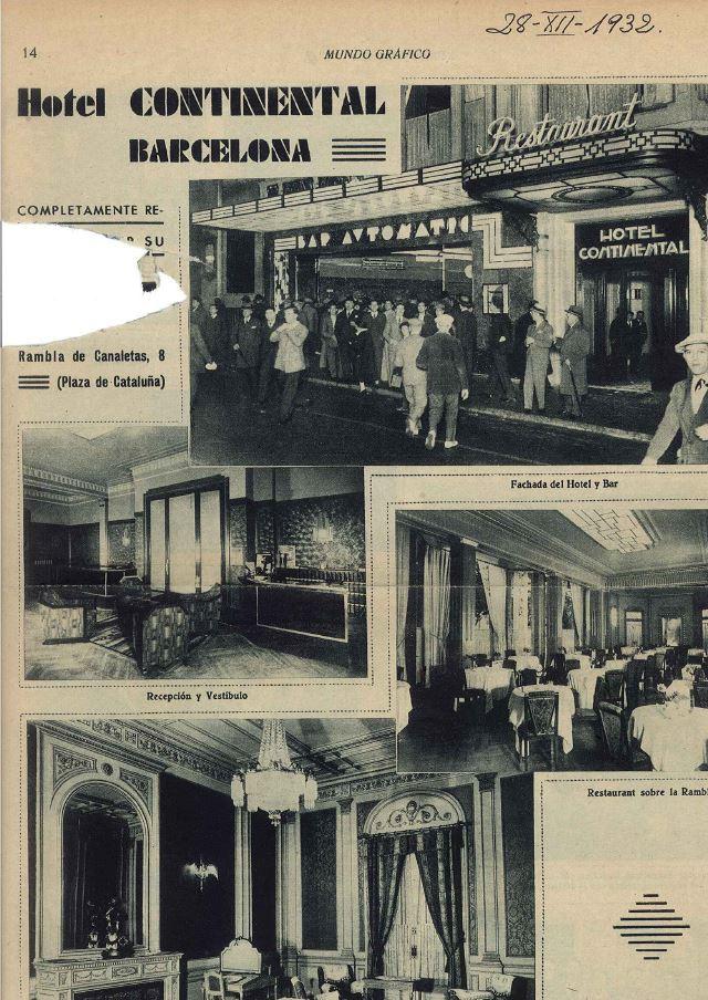 Curiosidades Historicas Del Hotel Hotel Continental Barcelona