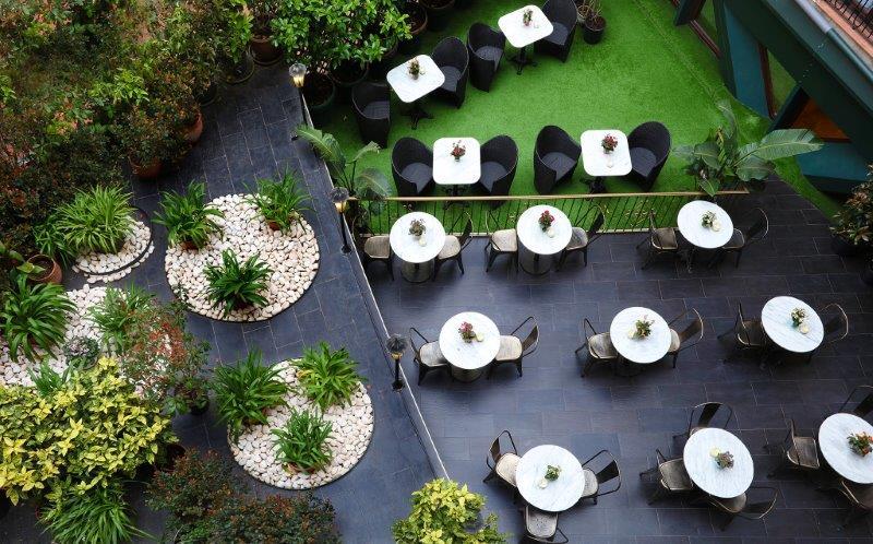 Hotel Continental Barcelona jardin