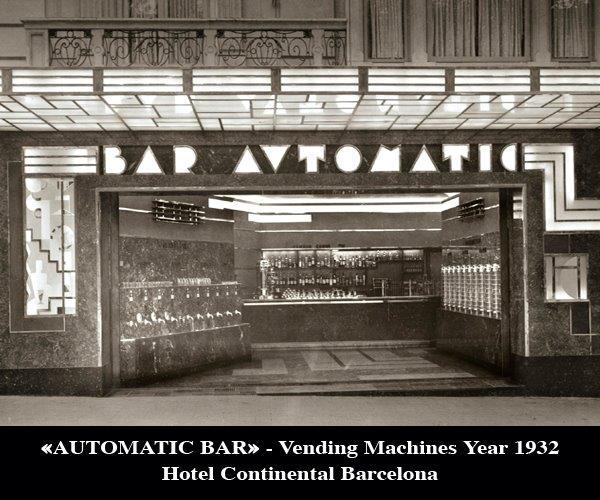 Hotel Continental Barcelona bar automático historia barcelona