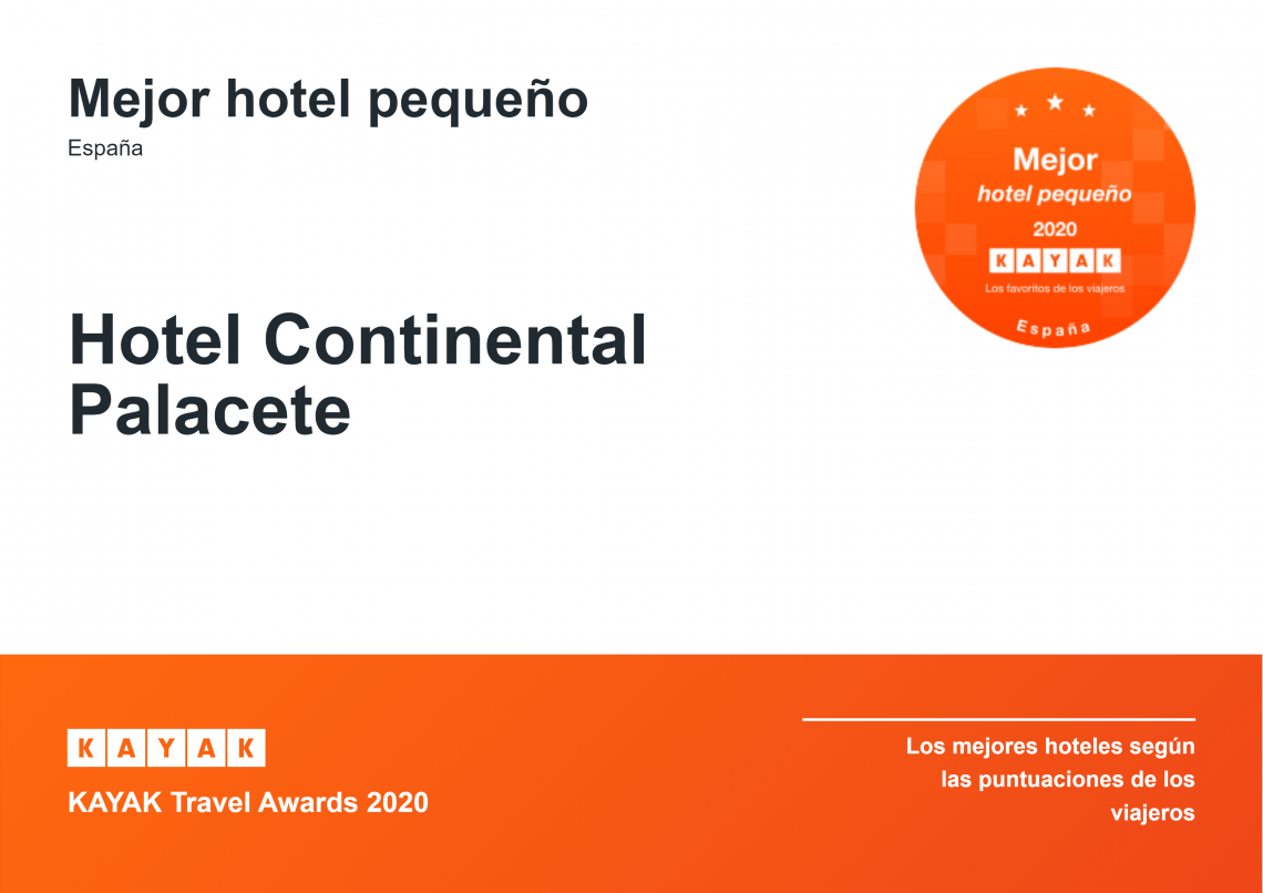 KAYAK Travel Awards 2020 Hotel Continental Palacete